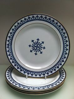 "£165 A.W.N Pugin designed Minton ""Gothic"" Pattern 23cm Bread Plate (4 available) Circa 1850 Fabulous condition."