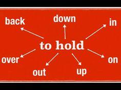 Фразовый глагол HOLD. Урок английского языка. Видео уроки английского. - YouTube