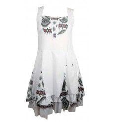 abf98eb667fd55 Robe C fait pour vous blanche et motifs ethniques yokaso.fr Imprimé  Ethnique, Motifs