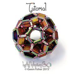 New Tutorial -  Tila Buckyball Bead Beaded with Bugle and Seed Beads