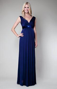 Anastasia Umstandsabendkleid (Eclipse-Blue)