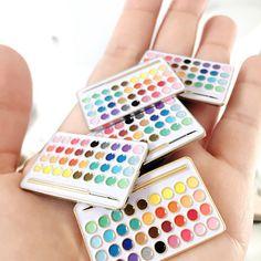 Live a Creative Life Palette Enamel Pins by NattyMichellePaperie