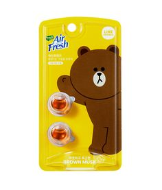 Line Friends Characters Car Vent Clip Air Freshener Musk Scent Brown Refill #Homez