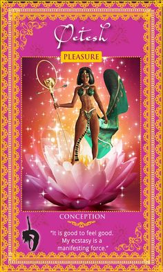 """""""It is good to feel good. My ecstasy is a manifesting force.""""  Egyptian Fertility Goddess Qetesh... Womanifesting: Fertility Goddess Affirmation Cards"""