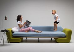 """""""fun furniture design"""" - Marvin Reber's Inclusion Couch is a fun furniture design that includes multiple parts that can be taken apart and put back together in imagin..."""