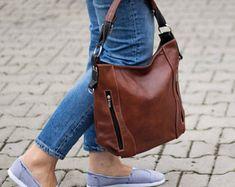 CUSTOM Simple Leather Tote Bag~Leather Purse~Leather Handbag~Classic Tote~Custom Tote~Full Grain Leather Handbag