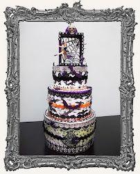 Halloween Cake by Denise Phillips for Retro Cafe Art Gallery
