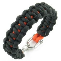 Bracelet paracord Cobra bicolore avec manille & clip inox