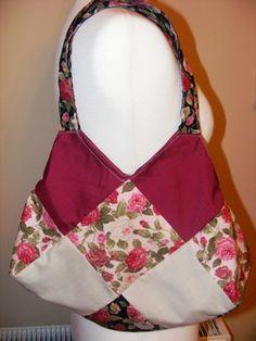 Roomy cotton patchwork bag