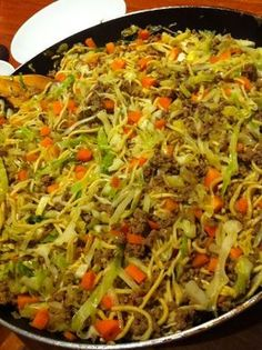 Curried Cabbage Mince - a great budget dinner.  Tasty too.