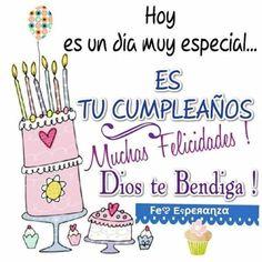 Spanish Birthday Wishes, Happy Birthday Celebration, Happy Birthday Sister, Happy Birthday Quotes, Happy Birthday Cards, Birthday Greetings, Happy Mother Day Quotes, Good Day Quotes, Happy B Day