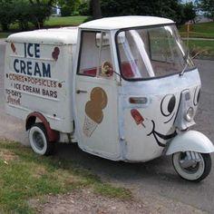 a86e81ef5275bd Love this little Piaggio Ape ice cream truck. From parts unknown...