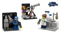 Interested in some Lego figures that go a little farther than the bakeries and petstores girls are allowed to run in the current Lego Friends line? Support this project to ask Lego to put these interesting ladies into the Lego production line-- paleontologist, astronaut, astronomer, geologist, chemist...