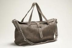 B | Y Leather Cayleigh light waxed leather bag