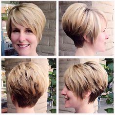 Cut and styled by Sheilaroni @ salonreviveboca Fun short cut