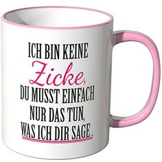 Wandkings® Tasse, Spruch: Ich bin keine Zicke, du musst e... https://www.amazon.de/dp/B00URJHRN2/ref=cm_sw_r_pi_dp_x_RBtBybQCBJDVG