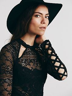 The Goth Aesthetic: Victorian-Inspired Mesh Lace Tee by Free People. $128