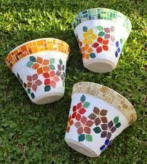 Resultado de imagen de vasos em mosaico