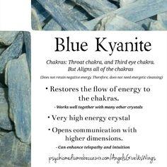 of Quartz Crystals Blue Kyanite crystal meaningBlue Kyanite crystal meaning Chakra Crystals, Crystals Minerals, Gems And Minerals, Crystals And Gemstones, Stones And Crystals, Gem Stones, Healing Gemstones, Chakra Stones, Blue Crystals