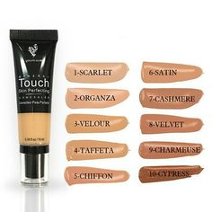 Younique Touch Mineral Skin Perfecting Concealer 2017 New 10 Color Concealer Moisturizer Oil-control Concealer Cream Foundation Flawless Face Makeup Touch Mineral Liquid Foundation, Mineral Touch, Makeup Foundation, Younique Touch, Scarlet, Chiffon, Younique Presenter, Professional Makeup, Makeup Products