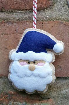 Adorable adorno de Santa fieltro hecho a mano por TillysHangout Más