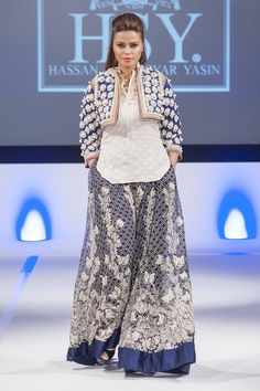 HSY at Pakistan Fashion Extravaganza London 2014 The legendary fashion designer HSY brilliant...