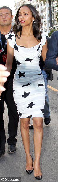 I loooooove the shape of this dress, not so much the stars...eh maybe the stars too