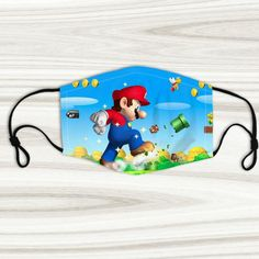 Custom face maskSize:Adult's Width cm), length in Width in cm), length in different! Wear this face mask with beautiful picture!Super soft polyester, will not irritate skin.Reusable, machine washable with cold water. Mario Room, Mouth Mask Fashion, Super Mario, Children, Kids, Filter, Snoopy, Handmade Gifts, Face