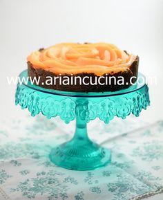 Blog di cucina di Aria: Torta fredda con crema alla vaniglia e melone