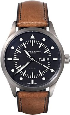 Automatic Modern watch from Swiss Watchmaker Maurice de Mauriac. swiss watches for men, mens watches. Visit our website for more luxury swiss watches: http://www.mauricedemauriac.ch/