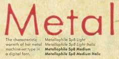 Metallophile Sp8™ - Webfont & Desktop font « MyFonts