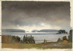 Kansallisgalleria - Taidekokoelmat - Maisemaharjoitelma Haikkoosta Porvoosta