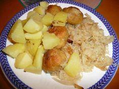 Rybacie fašírky na kyslej kapuste Potato Salad, Potatoes, Ethnic Recipes, Food, Potato, Essen, Meals, Yemek, Eten
