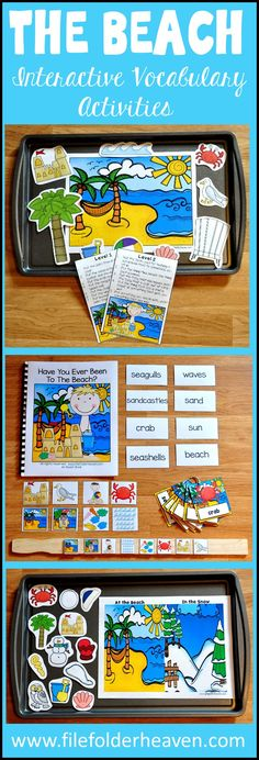 The Beach Adapted Books Unit and Interactive Vocabulary Activities Has just been…