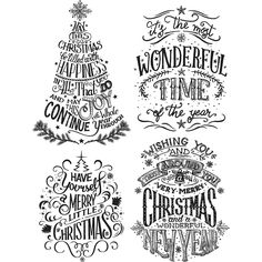 """Tim Holtz Cling Rubber Stamps - Doodle Greetings #2 7""""x8.5"""""""