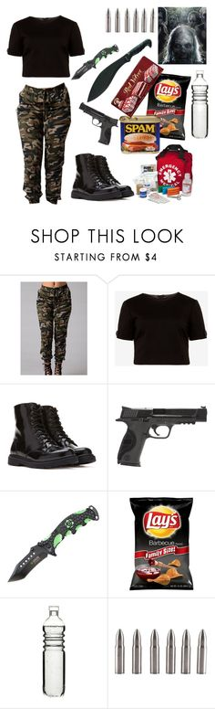 """""""Zombie apocalypse survival outfit """" by seriousblackk ❤ liked on Polyvore featuring Ted Baker, Forever 21, Smith & Wesson, INC International Concepts and Dot & Bo"""
