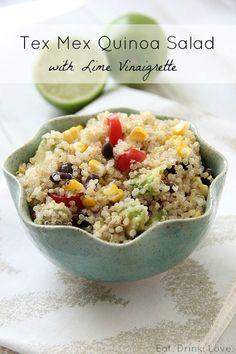 Tex Mex Quinoa Salad with Lime Vinaigrette @Stephanie {Eat. Drink. Love.}