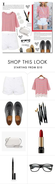 """""""Untitled #75"""" by maayan-styles ❤ liked on Polyvore featuring Topshop, Dr. Martens, Anja, Bobbi Brown Cosmetics, Prada, Lancôme and Elizabeth Arden"""