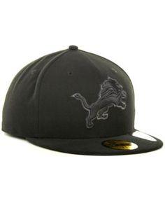 New Era Detroit Lions Black Gray 59FIFTY Hat - Black 7 1 8 Detroit Lions 9de1726504b1