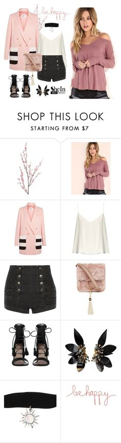 """""""Be happy with shein"""" by nicoleaurelia ❤ liked on Polyvore featuring Pier 1 Imports, MaxMara, Raey, Pierre Balmain, Brother Vellies, Zimmermann, Marni and Natural Life"""