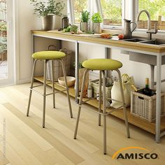 Button Swivel Stool | Amisco #roundstool at AllModernOutlet