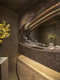 Powder Room sink/waterfall - Contemporary - Powder Room - phoenix - by Angelica Henry Design