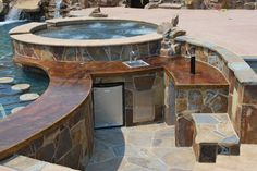 Outdoor Living  pool, spa  bar area