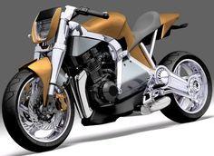 Futuritic motorcycle CAF-E – Hybrid Moto Concept