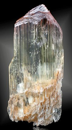 Bi-colored crystal of Spodumene and Kunzite. From the Beebe Hole (Mine), Jacumba, San Diego County, California.