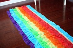 Ruffled tablecloth...made from plastic tablecloths!