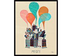 Michelle Carlslund - My City, 30 x 40 cm DKK 219,00