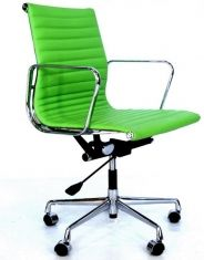 Eames Style EA 117 Office Chair - Apple Green Leather