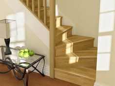 Oak stairparts are an elegant way to refresh or refurbish your existing stairs. Cottage Stairs, House Stairs, Loft Staircase, Staircase Design, Staircases, Winder Stairs, Banister Remodel, Oak Stairs, Home Interior Design