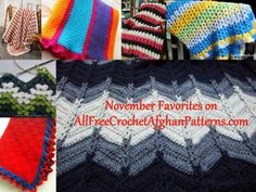 Here at AllFreeCrochetAfghanPatterns we kept track of our most popular patterns from last month. During the month of November, these patterns were reader favorites, check them out by clicking this pin!